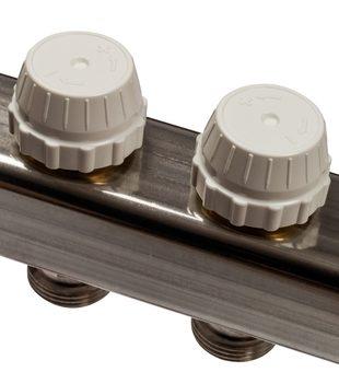 SMS 0917 000007 STOUT Коллектор из нержавеющей стали с расходомерами 7 вых.
