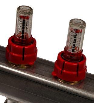 SMS 0917 000008 STOUT Коллектор из нержавеющей стали с расходомерами 8 вых.