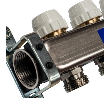 SMS 0917 000010 STOUT Коллектор из нержавеющей стали с расходомерами 10 вых.3