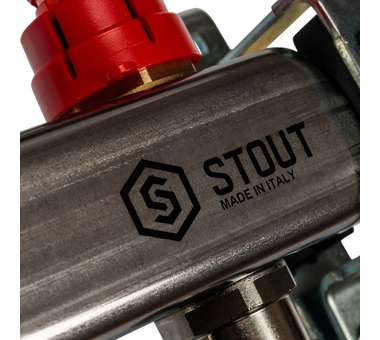SMS 0917 000010 STOUT Коллектор из нержавеющей стали с расходомерами 10 вых.6