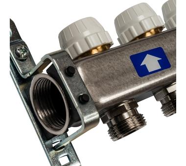 SMS 0917 000011 STOUT Коллектор из нержавеющей стали с расходомерами 11 вых.3
