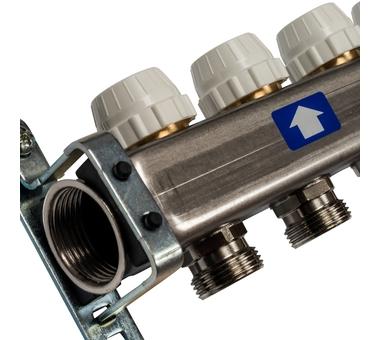 SMS 0917 000012 STOUT Коллектор из нержавеющей стали с расходомерами 12 вых.3