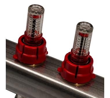 SMS 0917 000012 STOUT Коллектор из нержавеющей стали с расходомерами 12 вых.4