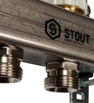SMS 0917 000012 STOUT Коллектор из нержавеющей стали с расходомерами 12 вых.6