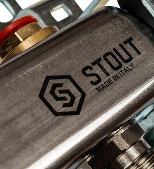SMS 0922 000004 STOUT Коллектор из нержавеющей стали без расходомеров 4 вых.6