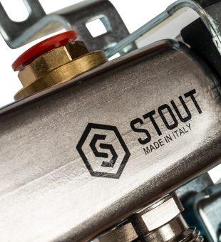 SMS 0922 000006 STOUT Коллектор из нержавеющей стали без расходомеров 6 вых.6