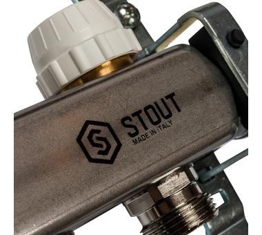 SMS 0922 000007 STOUT Коллектор из нержавеющей стали без расходомеров 7 вых.6