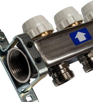 SMS 0922 000008 STOUT Коллектор из нержавеющей стали без расходомеров 8 вых.