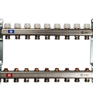 SMS 0922 000009 STOUT Коллектор из нержавеющей стали без расходомеров 9 вых.