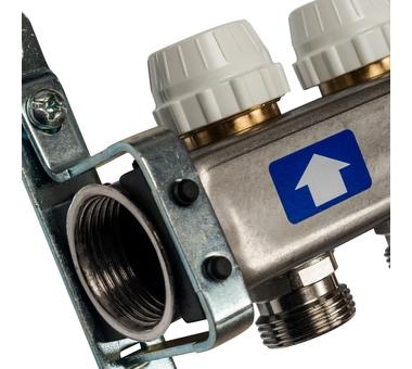 SMS 0922 000010 STOUT Коллектор из нержавеющей стали без расходомеров 10 вых.