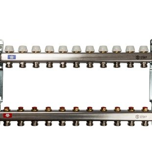SMS 0922 000011 STOUT Коллектор из нержавеющей стали без расходомеров 11 вых.