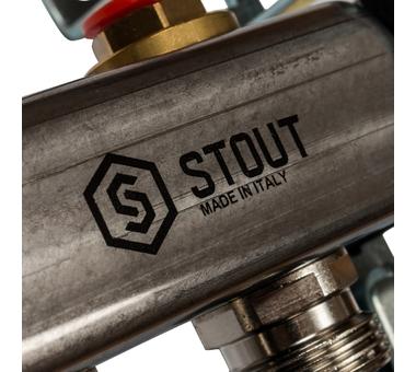 SMS 0922 000011 STOUT Коллектор из нержавеющей стали без расходомеров 11 вых.6
