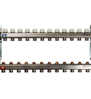 SMS 0922 000012 STOUT Коллектор из нержавеющей стали без расходомеров 12 вых.