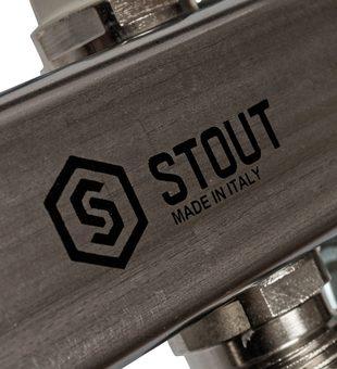 SMS 0923 000006 STOUT Коллектор из нержавеющей стали для радиаторной разводки 6 вых.4