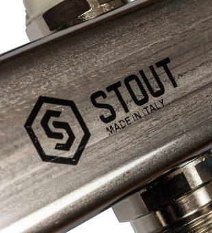 SMS 0923 000007 STOUT Коллектор из нержавеющей стали для радиаторной разводки 7 вых.4