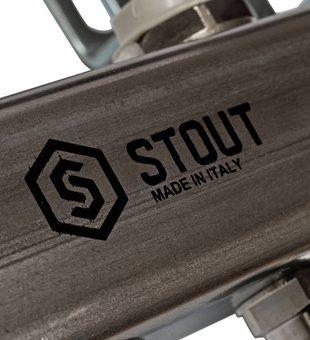 SMS 0923 000008 STOUT Коллектор из нержавеющей стали для радиаторной разводки 8 вых.4