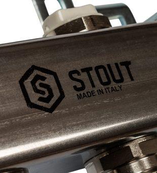 SMS 0923 000009 STOUT Коллектор из нержавеющей стали для радиаторной разводки 9 вых.4