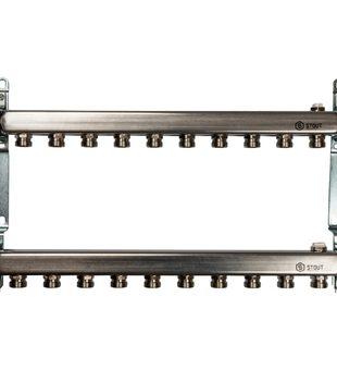 SMS 0923 000010 STOUT Коллектор из нержавеющей стали для радиаторной разводки 10 вых.
