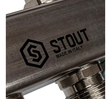 SMS 0923 000010 STOUT Коллектор из нержавеющей стали для радиаторной разводки 10 вых.3