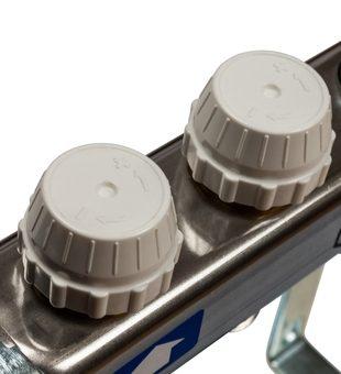 SMS-0927-000002 STOUT Коллектор из нержавеющей стали с расходомерами, с клапаном вып. воздуха и сливом 2 вых.3