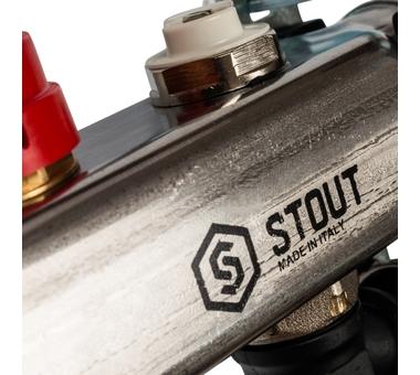 SMS-0927-000002 STOUT Коллектор из нержавеющей стали с расходомерами, с клапаном вып. воздуха и сливом 2 вых.6
