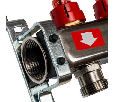 SMS-0927-000003 STOUT Коллектор из нержавеющей стали с расходомерами, с клапаном вып. воздуха и сливом 3 вых.2