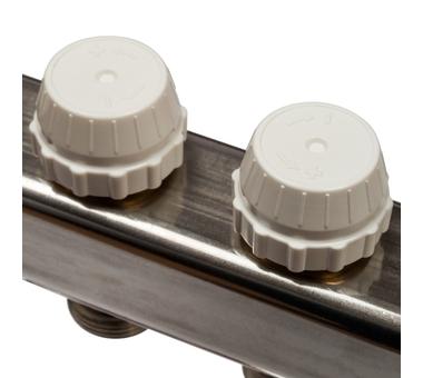 SMS-0927-000003 STOUT Коллектор из нержавеющей стали с расходомерами, с клапаном вып. воздуха и сливом 3 вых.5