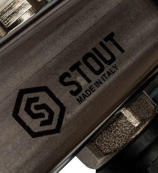 SMS-0927-000003 STOUT Коллектор из нержавеющей стали с расходомерами, с клапаном вып. воздуха и сливом 3 вых.8