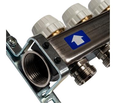 SMS-0927-000004 STOUT Коллектор из нержавеющей стали с расходомерами, с клапаном вып. воздуха и сливом 4 вых.3