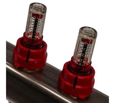 SMS-0927-000004 STOUT Коллектор из нержавеющей стали с расходомерами, с клапаном вып. воздуха и сливом 4 вых.4