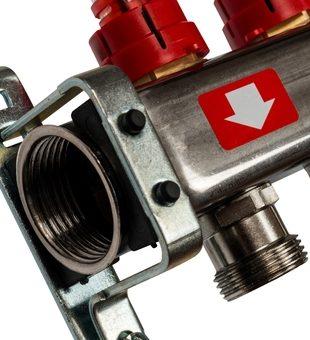 SMS-0927-000005 STOUT Коллектор из нержавеющей стали с расходомерами, с клапаном вып. воздуха и сливом 5 вых.1