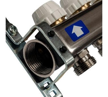 SMS-0927-000005 STOUT Коллектор из нержавеющей стали с расходомерами, с клапаном вып. воздуха и сливом 5 вых.2