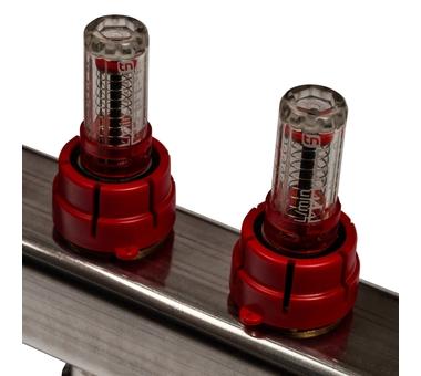 SMS-0927-000005 STOUT Коллектор из нержавеющей стали с расходомерами, с клапаном вып. воздуха и сливом 5 вых.3