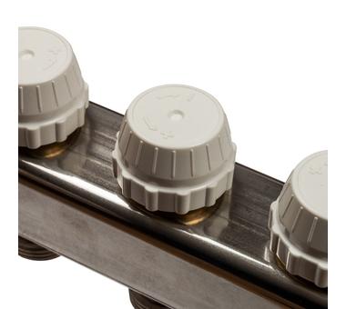 SMS-0927-000005 STOUT Коллектор из нержавеющей стали с расходомерами, с клапаном вып. воздуха и сливом 5 вых.4