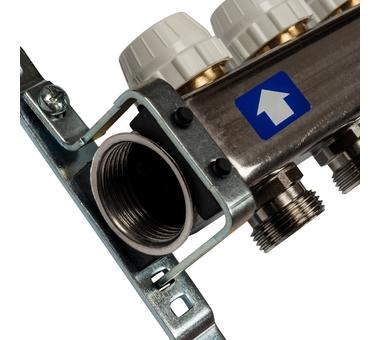 SMS-0927-000006 STOUT Коллектор из нержавеющей стали с расходомерами, с клапаном вып. воздуха и сливом 6 вых.