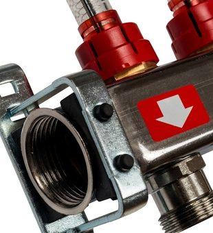 SMS-0927-000007 STOUT Коллектор из нержавеющей стали с расходомерами, с клапаном вып. воздуха и сливом 7 вых.1