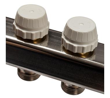 SMS-0927-000007 STOUT Коллектор из нержавеющей стали с расходомерами, с клапаном вып. воздуха и сливом 7 вых.3