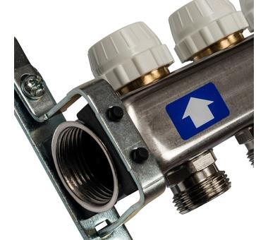 SMS-0927-000008 STOUT Коллектор из нержавеющей стали с расходомерами, с клапаном вып. воздуха и сливом 8 вых.3