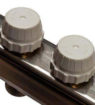 SMS-0927-000009 STOUT Коллектор из нержавеющей стали с расходомерами, с клапаном вып. воздуха и сливом 9 вых.5