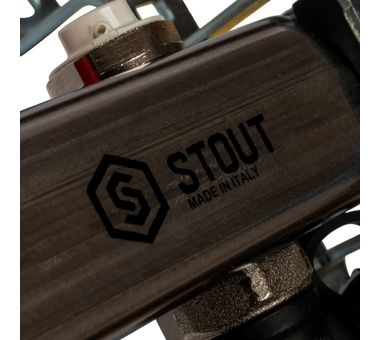 SMS-0927-000009 STOUT Коллектор из нержавеющей стали с расходомерами, с клапаном вып. воздуха и сливом 9 вых.8