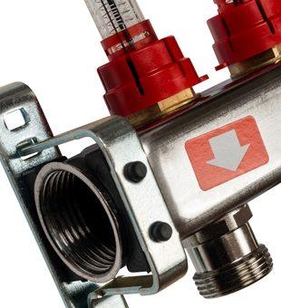 SMS-0927-000010 STOUT Коллектор из нержавеющей стали с расходомерами, с клапаном вып. воздуха и сливом 10 вых.2