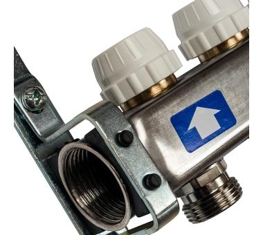 SMS-0927-000010 STOUT Коллектор из нержавеющей стали с расходомерами, с клапаном вып. воздуха и сливом 10 вых.3