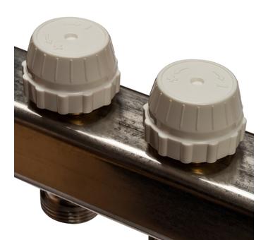 SMS-0927-000010 STOUT Коллектор из нержавеющей стали с расходомерами, с клапаном вып. воздуха и сливом 10 вых.5