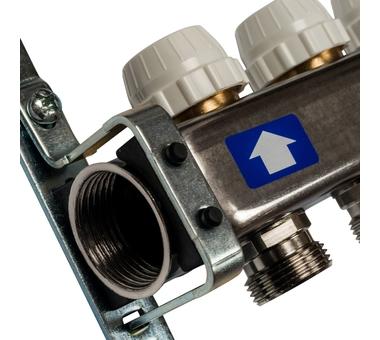 SMS-0927-000011 STOUT Коллектор из нержавеющей стали с расходомерами, с клапаном вып. воздуха и сливом 11 вых.3