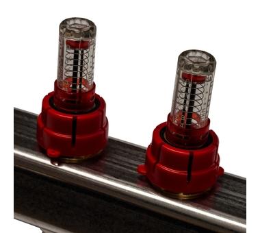 SMS-0927-000011 STOUT Коллектор из нержавеющей стали с расходомерами, с клапаном вып. воздуха и сливом 11 вых.4