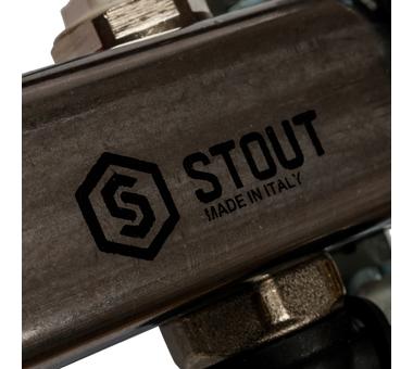 SMS-0927-000011 STOUT Коллектор из нержавеющей стали с расходомерами, с клапаном вып. воздуха и сливом 11 вых.8