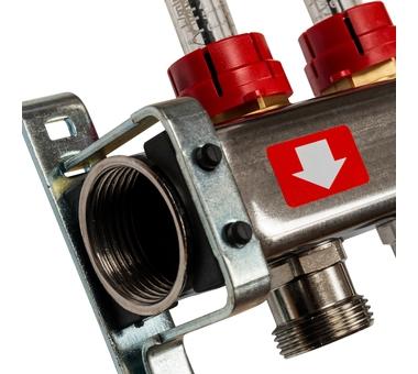 SMS-0927-000012 STOUT Коллектор из нержавеющей стали с расходомерами, с клапаном вып. воздуха и сливом 12 вых.2