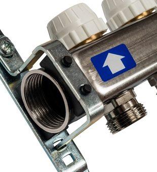SMS-0927-000012 STOUT Коллектор из нержавеющей стали с расходомерами, с клапаном вып. воздуха и сливом 12 вых.3