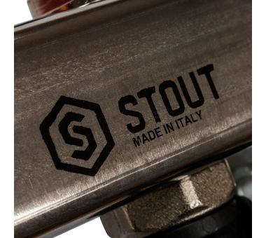 SMS-0927-000012 STOUT Коллектор из нержавеющей стали с расходомерами, с клапаном вып. воздуха и сливом 12 вых.8