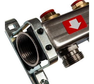 SMS-0932-000005 STOUT Коллектор из нержавеющей стали без расходомеров, с клапаном вып. воздуха и сливом 5 вых.2